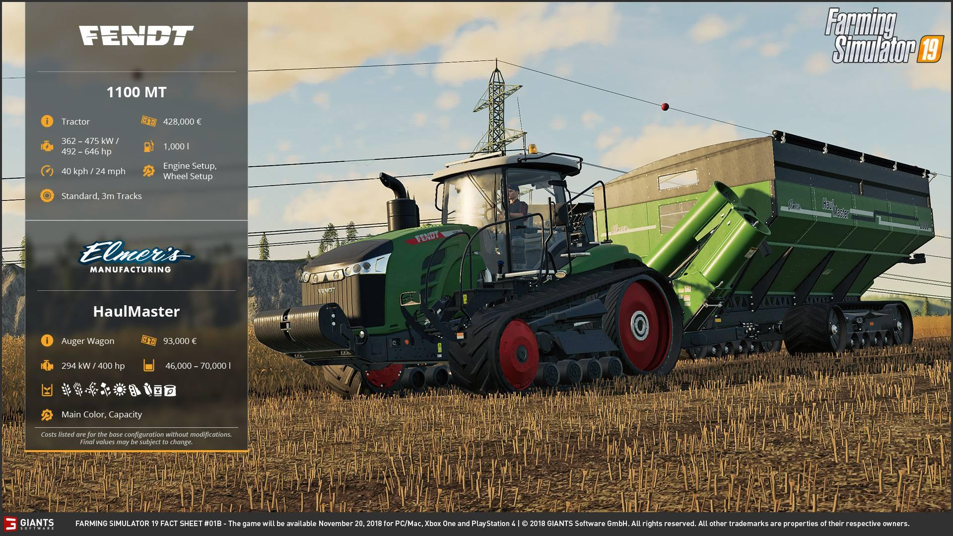 Photo of Farming Simulator 19: Fact Sheet #2