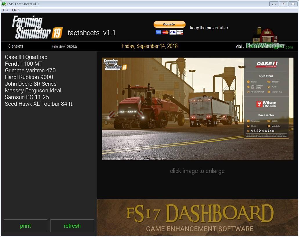Photo of Farming Simulator 19: Factsheets Software V1.1.0