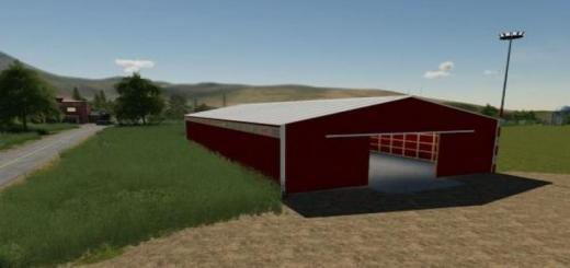 Photo of FS19 – 72X150 Red Storage Shed Prefab V1