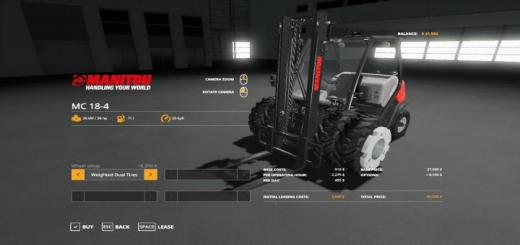 Photo of FS19 – Forklift Duallies & Weighted Duallies V1.3