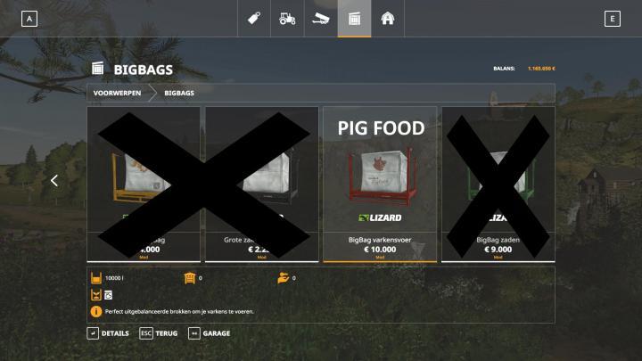Photo of FS19 – 10K Capacity Bigbag Pigfood V1