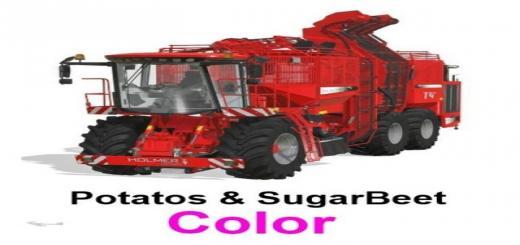 Photo of FS19 – Holmer With Potatos & Sugarbeet + Cutting Units V1.6