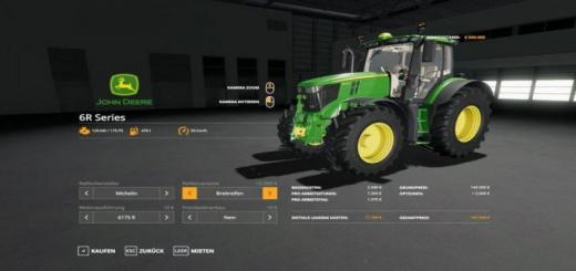 Photo of FS19 – John Deere 6R 175/210/230/250 Tractor V1