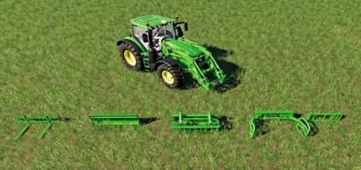 Photo of FS19 – John Deere Front Loader Attachments Set V1