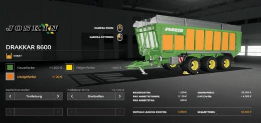 Photo of FS19 –  Joskin 8600 Trailer V1.0.4