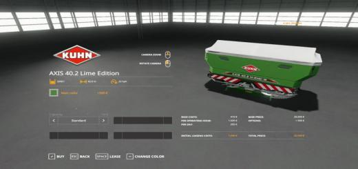 Photo of FS19 – Kuhn Axis 40.2 Lime Edition V1.0.0.2