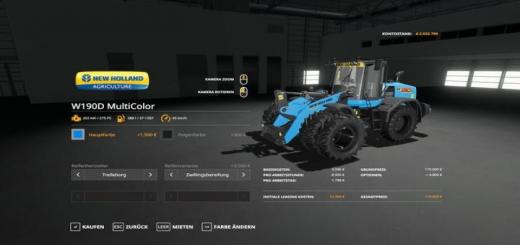 Photo of FS19 – New Holland W190D Wheel Loader – Multicolor And More V1