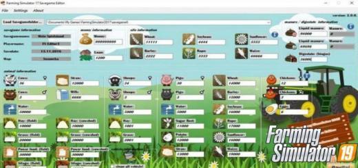 Photo of FS19 – Savegame Editor V1