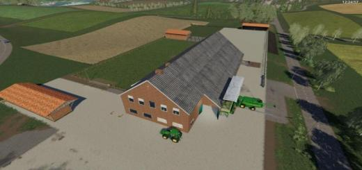 Photo of FS19 – Yard With Cowshed And Willow Beta V2