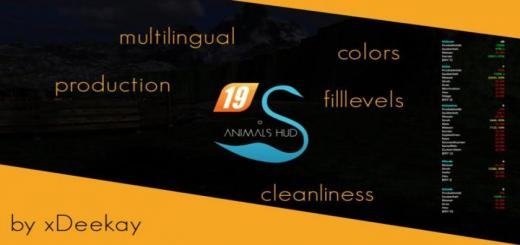 Photo of FS19 – Animals Hud Final Multilingual + Production + Colors V3