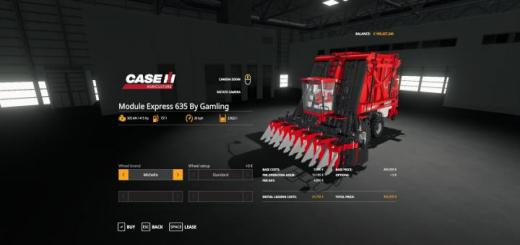 Photo of FS19 – Case Ih Module Express 635 By Gamling V1
