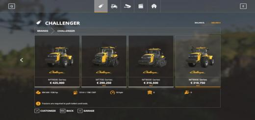 Photo of FS19 – Challenger Tractors V1.0.0.2