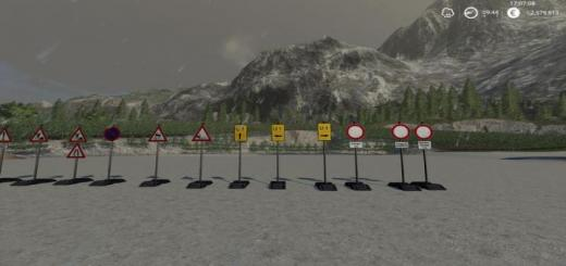 Photo of FS19 – Construction Site Signs Pack Portable V1