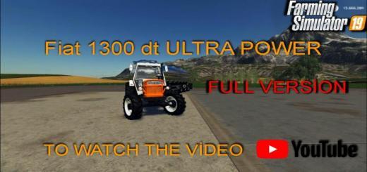 Photo of FS19 – Fiat 1300 Dt Ultra Power V1