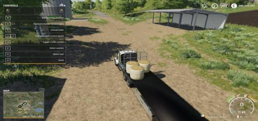Photo of FS19 – Fliegl Flatbed Roundbale Autoloader V1