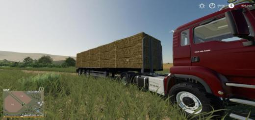 Photo of FS19 – Fliegl Flatbed Squarebale Autoload V1.0.0.2