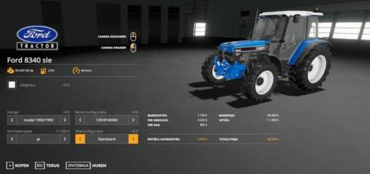 Photo of FS19 – Ford 8340 Sle Tractor V1