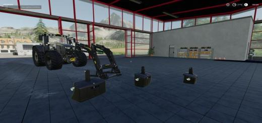 Photo of FS19 – John Deere Weights And Frontloader Black Edition V1.0.1