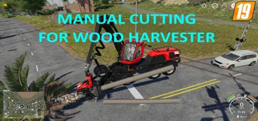 Photo of FS19 – Manual Cutting For Wood Harvester V1
