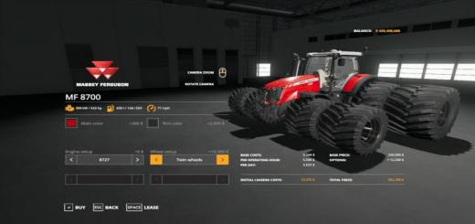 Photo of FS19 – Massey Ferguson 8700 Ve Tractor V1