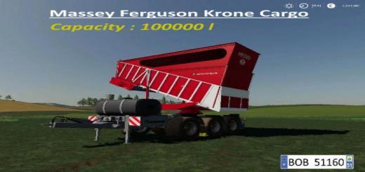 Photo of FS19 – Massey Ferguson Krone Cargo V1.0.0.1