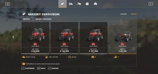 Photo of FS19 – Massey Ferguson Tractors V1.0.0.2