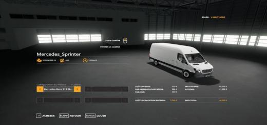 Photo of FS19 – Mercedes Sprinter V1.1