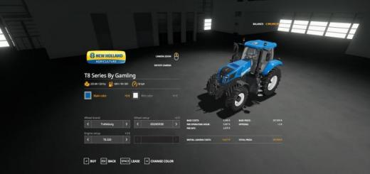 Photo of FS19 – New Holland T8 Series By Gamling V1