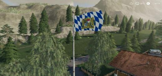 Photo of FS19 – Placeable Bayern Flag V1