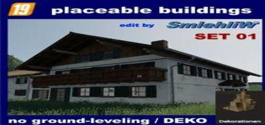 Photo of FS19 – Placeable Buildings De Set01 Without Ground-Leveling V1.0.0.1