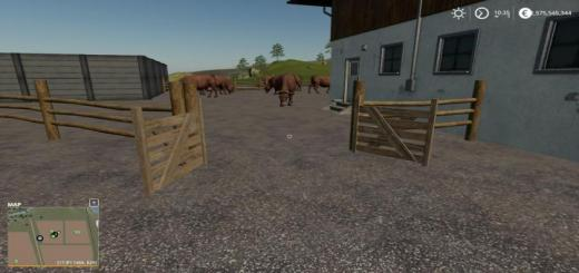 Photo of FS19 – Placeable Small Cow Yard V1