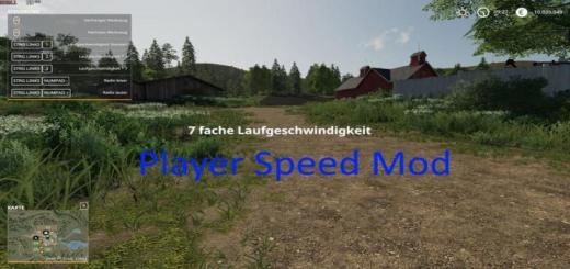 Photo of FS19 – Player Speed V1