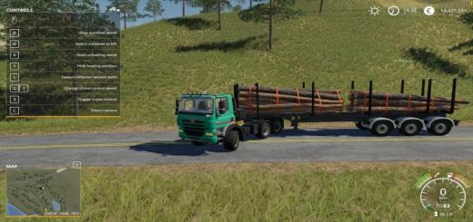 Photo of FS19 – Timber Runner Wide With Autoload Wood V1