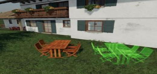 Photo of FS19 – Wooden Table With Chairs To Place V1