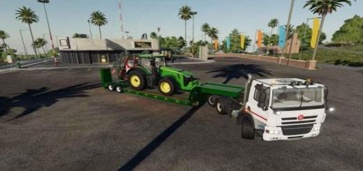 Photo of FS19 – 16Wheelslowdecktrailer V1