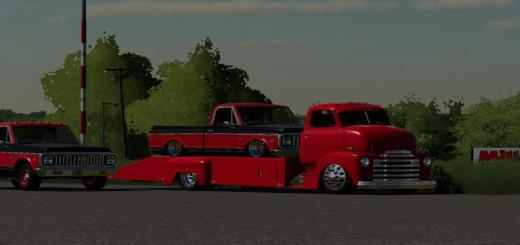 Photo of FS19 – 48 Chevy Ramp Truck And 71 Chevy C10 V1