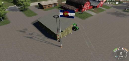 Photo of FS19 – Colorado Flag V1