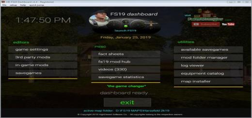 Photo of FS19 – Dashboard V1.4
