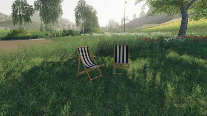 FS19 - Deck Chair For Sleeping V1