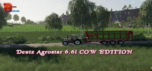 Photo of FS19 – Deutz Agrostar 6.61 Cow Edition V1