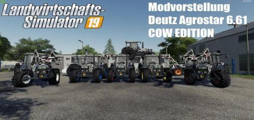 Photo of FS19 – Deutz Agrostar 6.61 Cow Edition V2