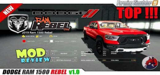 Photo of FS19 – Dodge Ram 1500 Rebel V1.1