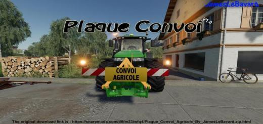 Photo of FS19 – Farm Convoy Plate V1