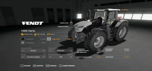 Photo of FS19 – Fendt 1000 Vario Tractor V1.0.0.2