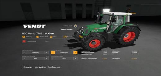 Photo of FS19 – Fendt 800 Vario Tms Tractor V1.0.0.7
