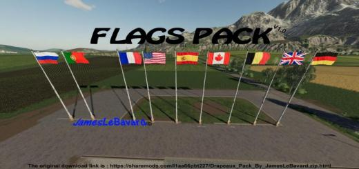 Photo of FS19 – Flags Pack V1