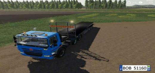 Photo of FS19 – Fliegl Flatbed Round Autoload V1.4