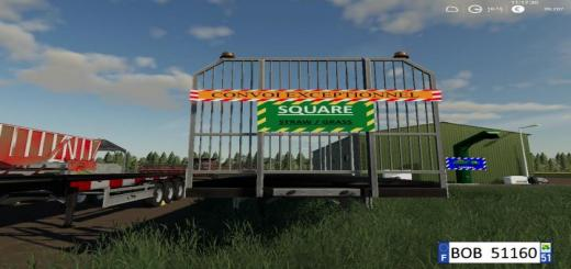 Photo of FS19 – Fliegl Flatbed Round Square Autoload V1.0.0.4