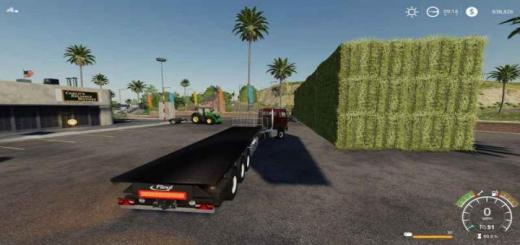 Photo of FS19 – Fliegl Flatbed Squarebale Autoload V1.0.0.3