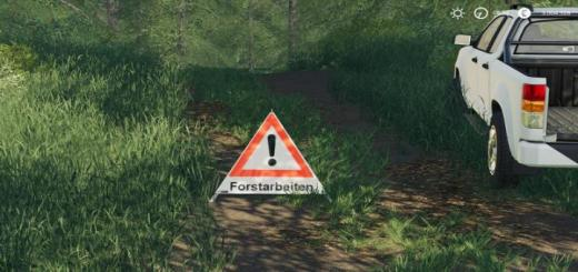 Photo of FS19 – Forest Pyramid Warning Sign V1